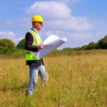 Site survey on development land for residential or commercial business units