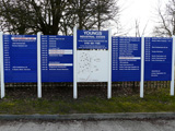 Young Estates estate sign with industrial and commercial units to let