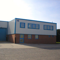 Modern business unit let within Young Estates industrial estate in Leighton Buzzard, Bedfordshire